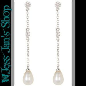 Swarovski Crystal Freshwater Pearl Drop Earrings